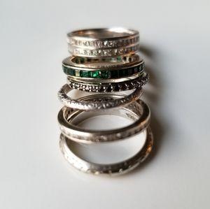 Antique vintage gold art deco ring emerald diamond